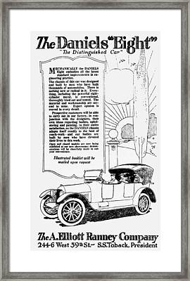 The Distinguished Car Of  1916 Framed Print by Daniel Hagerman