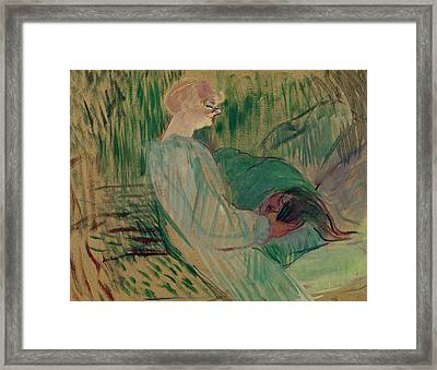 The Divan Rolande Framed Print