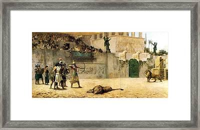 The Diversion Of An Assyrian Kin Framed Print