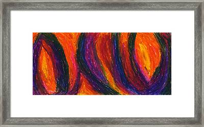 The Divine Fire Framed Print by Daina White