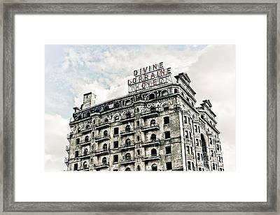 The Divine Lorraine Framed Print