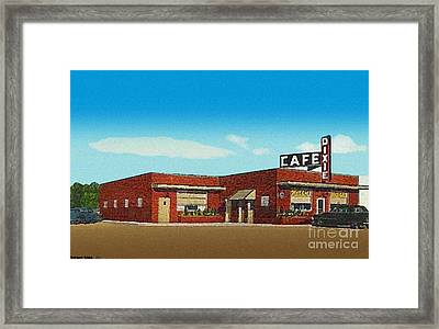 The Dixie Cafe In Selmer Tn Around 1950 Framed Print