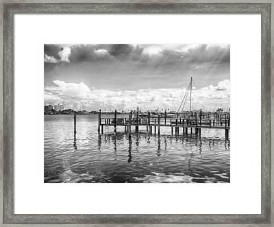 The Dock Framed Print by Howard Salmon