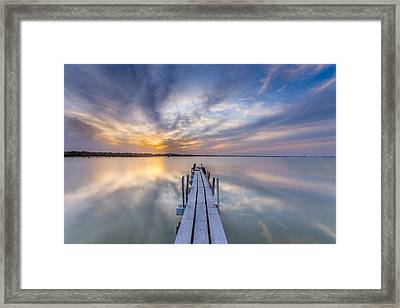The Dock II Framed Print by Peter Tellone