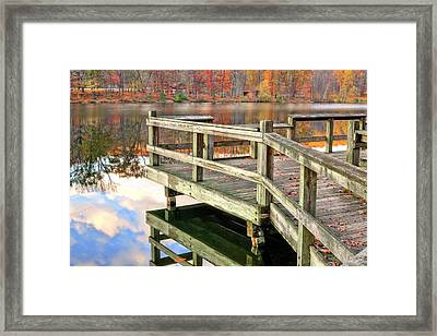 The Dock Framed Print by JC Findley