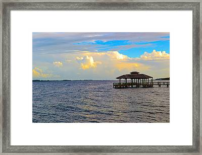 The Dock Framed Print by Victoria Clark