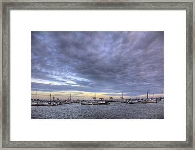 The Docks At Bay Shore Framed Print