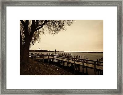 The Docks On Lake Minnetonka Framed Print by Susan Stone