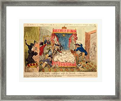 The Doctor Indulged With His Favorite Scene Framed Print