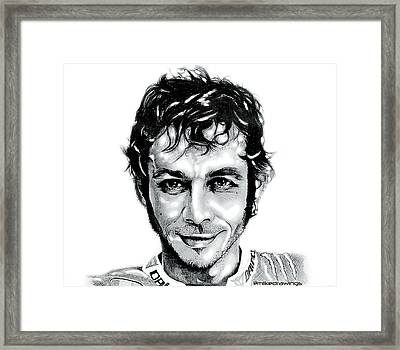 The Doctor Valentino Rossi Framed Print by Mike Sarda