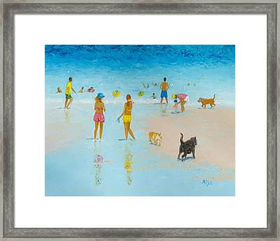 The Dog Beach Framed Print