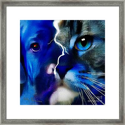 We All Connect Framed Print