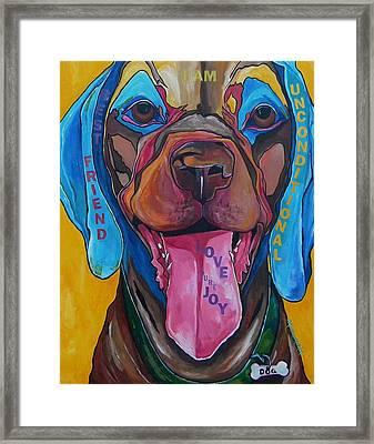 The Dog Framed Print by Patti Schermerhorn