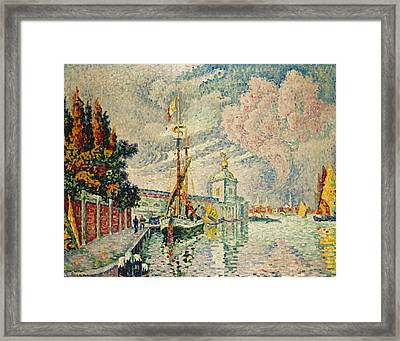 The Dogana Framed Print by Paul Signac