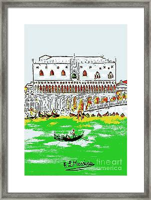 Framed Print featuring the painting The Doge's Palace by Loredana Messina