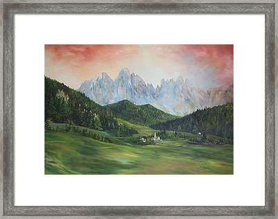 The Dolomites Italy Framed Print