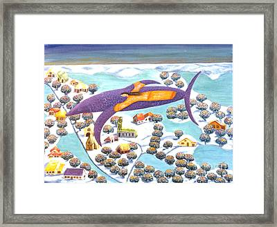 The Dolphin And I Framed Print by Barbara Sala