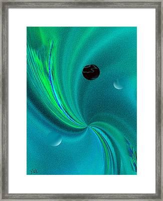 Dolphin Kiss Framed Print by Yul Olaivar