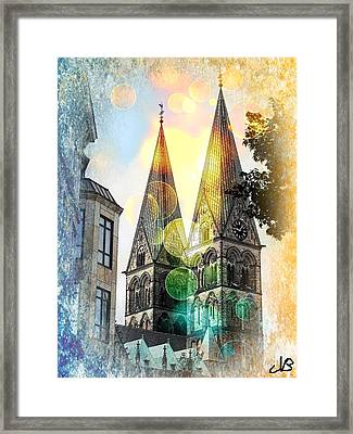 Framed Print featuring the photograph The Dom  by Nico Bielow