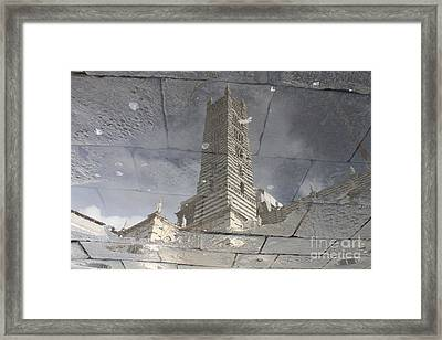 The Dome In The Pool Framed Print by Marco Affini