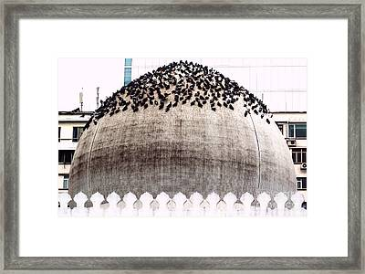 Framed Print featuring the photograph The Dome Of The Mosque by Ethna Gillespie