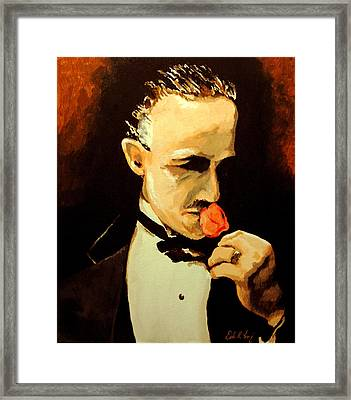 The Don And The Rose Framed Print