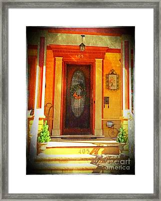 The Door 1 Framed Print by Becky Lupe