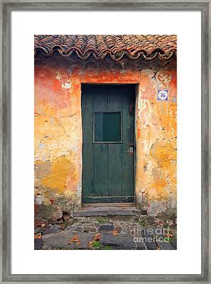 Framed Print featuring the photograph The Door by Bernardo Galmarini