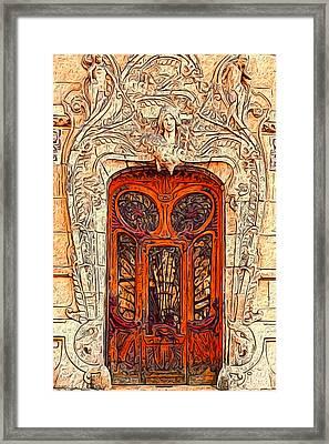 The Door Framed Print by Jack Zulli