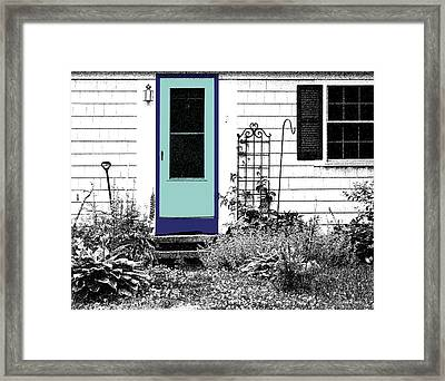 The Door Framed Print by Michelle Wiarda