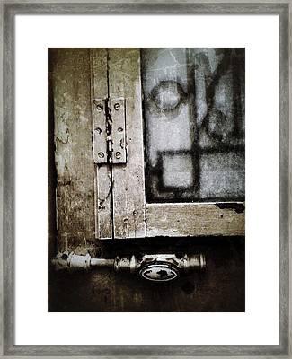 The Door Of Belcourt Framed Print by Natasha Marco