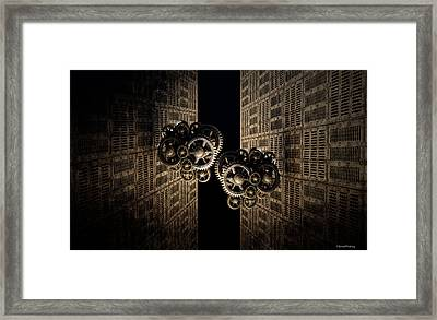 The Door Of The Time Framed Print by Ramon Martinez