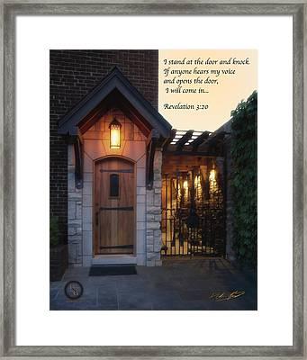 The Door Framed Print by Shane Garrett