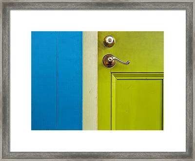 The Door Framed Print by Stellina Giannitsi