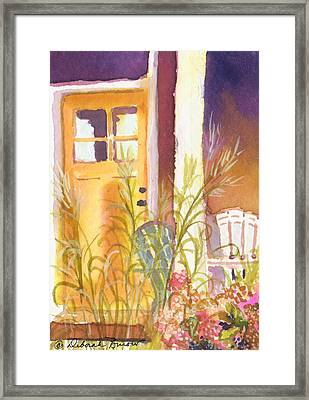 The Door Step Porch Framed Print