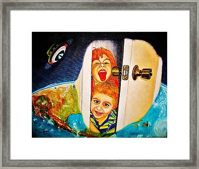 The Door Framed Print by Viktor Lazarev