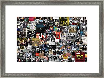 The Doors Collage Framed Print by Taylan Apukovska