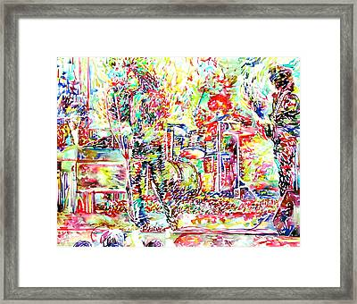 The Doors Live Concert Portrait Framed Print by Fabrizio Cassetta