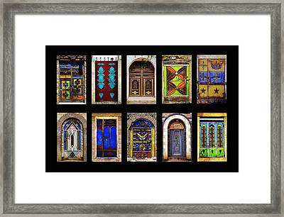 The Doors Of Yemen Framed Print