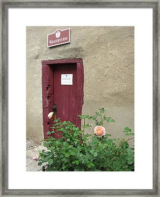 Framed Print featuring the photograph The Doorway by Pema Hou