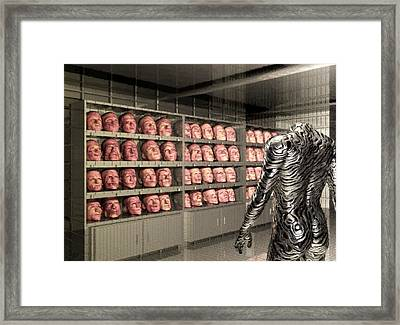 Framed Print featuring the digital art The Doppleganger by John Alexander