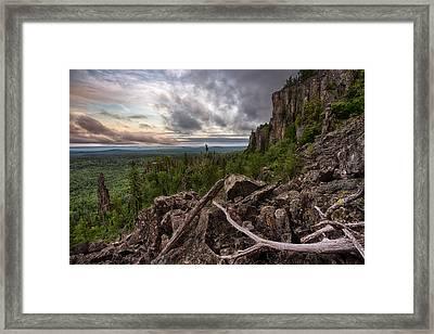 the Dorion Pinnacles Framed Print by Jakub Sisak