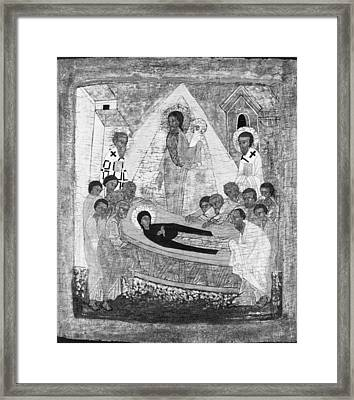 The Dormition Of The Virgin Framed Print