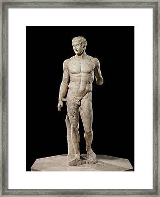 The Doryphoros Of Polykleitos Framed Print by Roman School