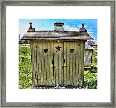 The Double Love Boat Outhouse Framed Print