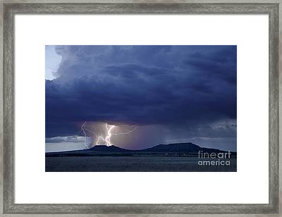 The Double Mountains Framed Print