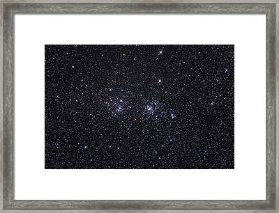 The Double Star Cluster Ngc 869 & Ngc Framed Print by Alan Dyer