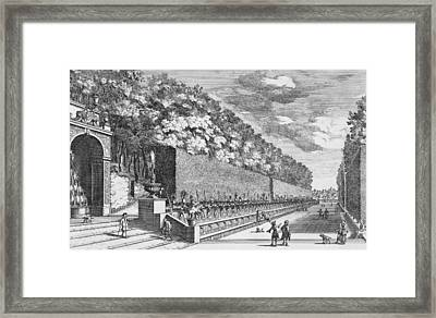 The Double Terrace Of One Hundred Fountains Framed Print