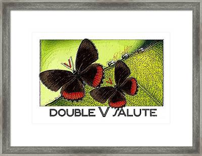 The Double V Salute Framed Print by The Sankoffer