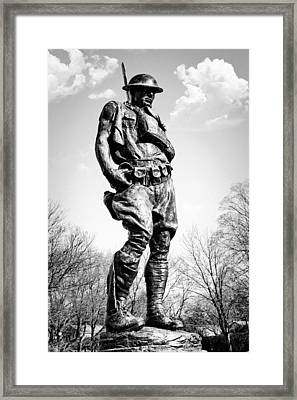 The Doughboy - Tribute To The American Expeditionary Forces Of World War 1 Framed Print by Gary Heller